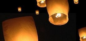 diy: floating lanterns I hope this isn't how the fires always get started out west but I want to try this. I might have to attach it to a string or fishing rod because knowing my luck it will land on the neighbor's roof!