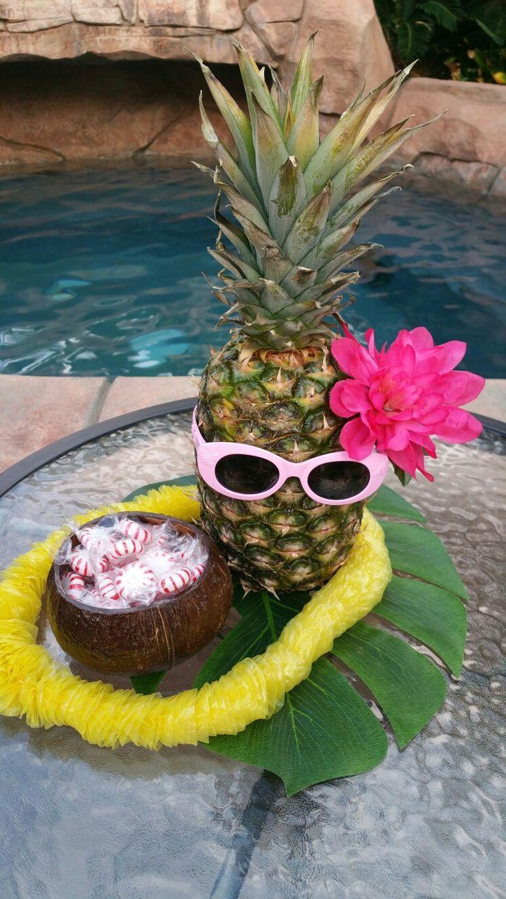 Pineapple centerpieces Luau centerpieces Luau theme