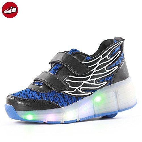 Kinder Junge Mädchen Bunte LED Schuhe Mit Rollen Herren Skateboard Rollschuhe Damen Wheelies Schuhe Sneaker (*Partner-Link)
