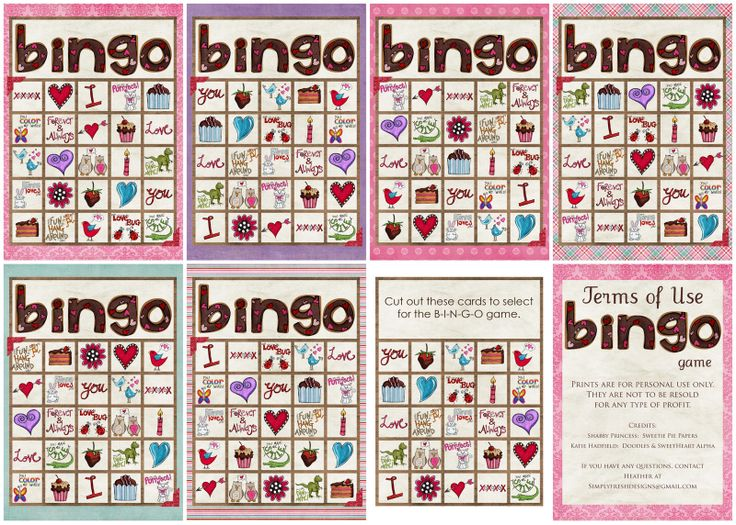 Valentines Printable Games. Simply Fresh Designs  Valentines Day BINGO Game  Simply Fresh