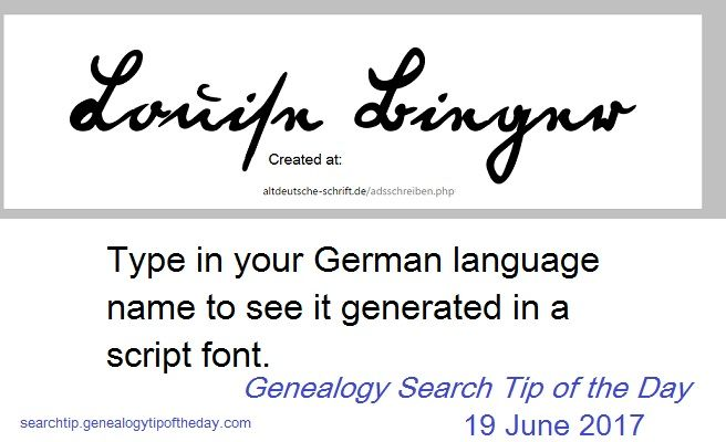 how to search genealogy in germany