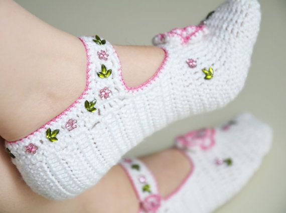 hand knitted wool slippers traditional white slippers socks