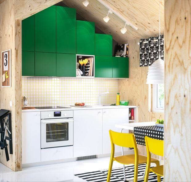 Kuchnia Pod Skosem Kitchen Design Kitchen Dinning Cuisine Ikea