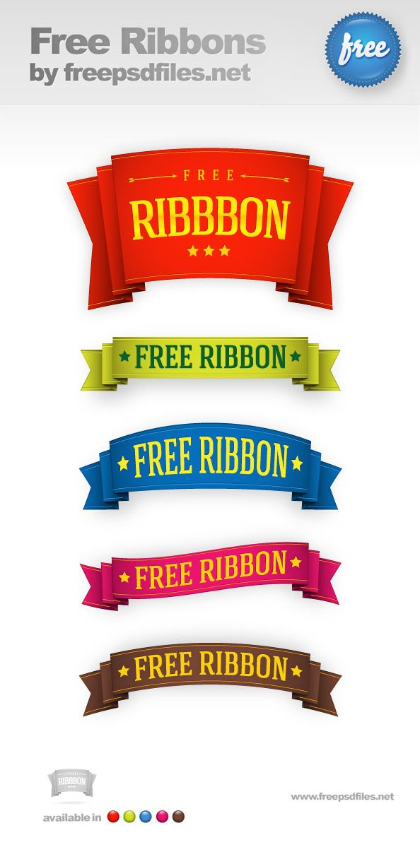 Today we're glad to present our newest creation - 5 ribbons, designed in high resolution and available in PSD file format. These are great design elements tha