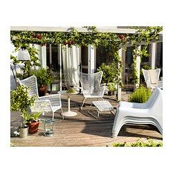 IKEA PS VÅGÖ Easy chair - white - IKEA $29.99 | See if they're comfy. Could be super cute on the back deck.