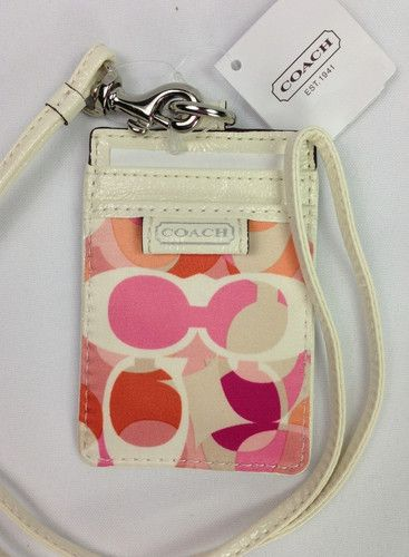 'COACH-Lanyard/ID Hldr-Daisy Kal-NWT' is going up for auction at  4pm Mon, Jul 8 with a starting bid of $20.