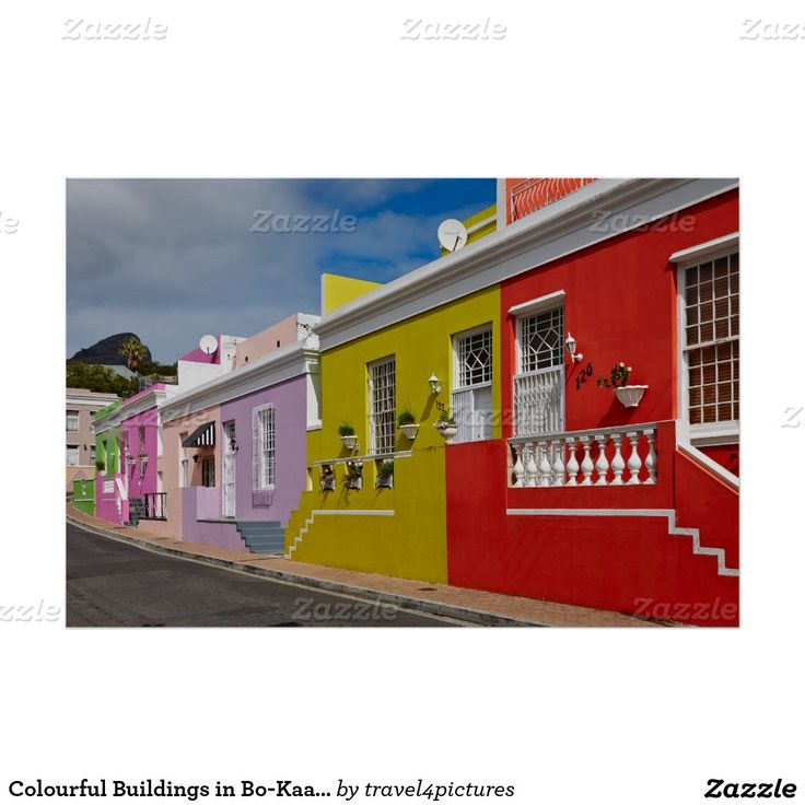 Colourful Buildings in Bo-Kaap, Cape Town Poster