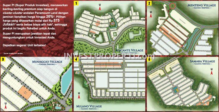 Site Plan Kavling Super PI Paramount Land