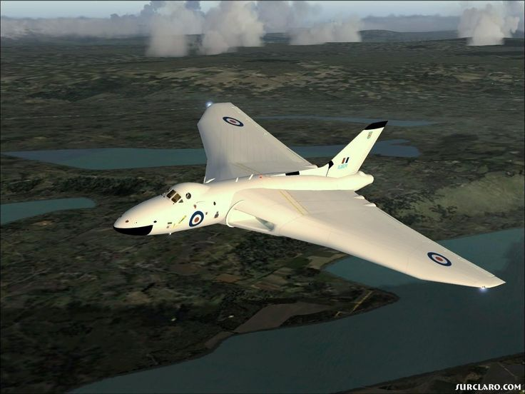 (Simulation screenshot) In early anti-radiation white. In the days when the Vulcan was a part of Britain's nuclear deterrent, along with the other V-bombers, the Valiant and Victor.