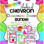Classroom Decor Bundle - Bright Shades of Chevron $