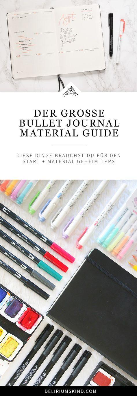 Ein BuJo starten: Dieses Bullet Journal Material brauchst du