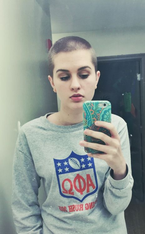 bloodincalif0rnia:I always forget to post more often on here, but tumblr friends - I shaved my head.