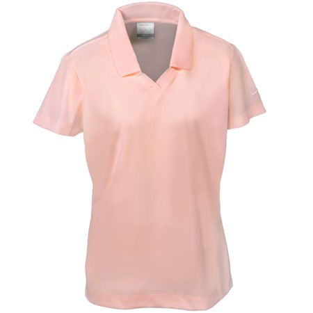 Nike Golf Women's Aluminum Pink 354067 APNK Dri Fit Micro Pique Polo