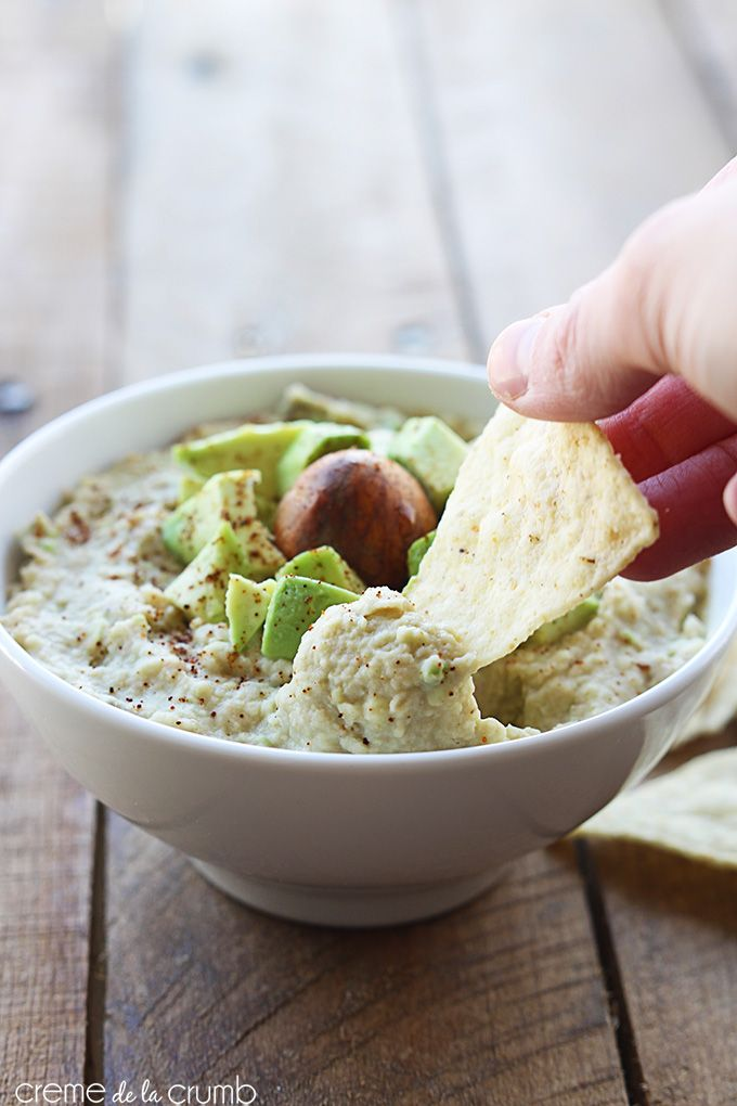 White Bean Guacamole - Creme De La Crumb