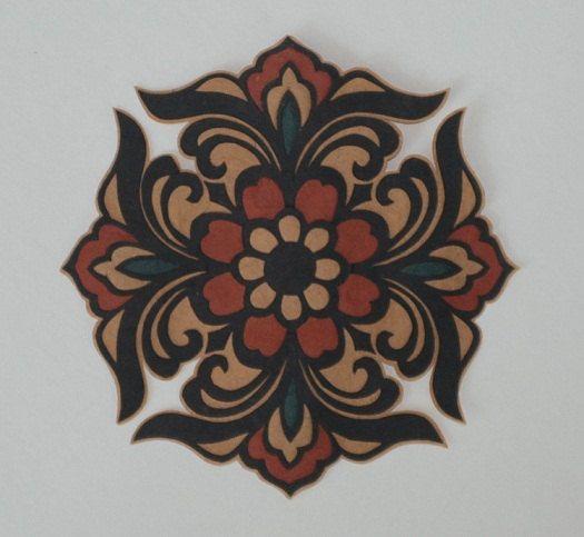 Handmade paper cut, paper flower