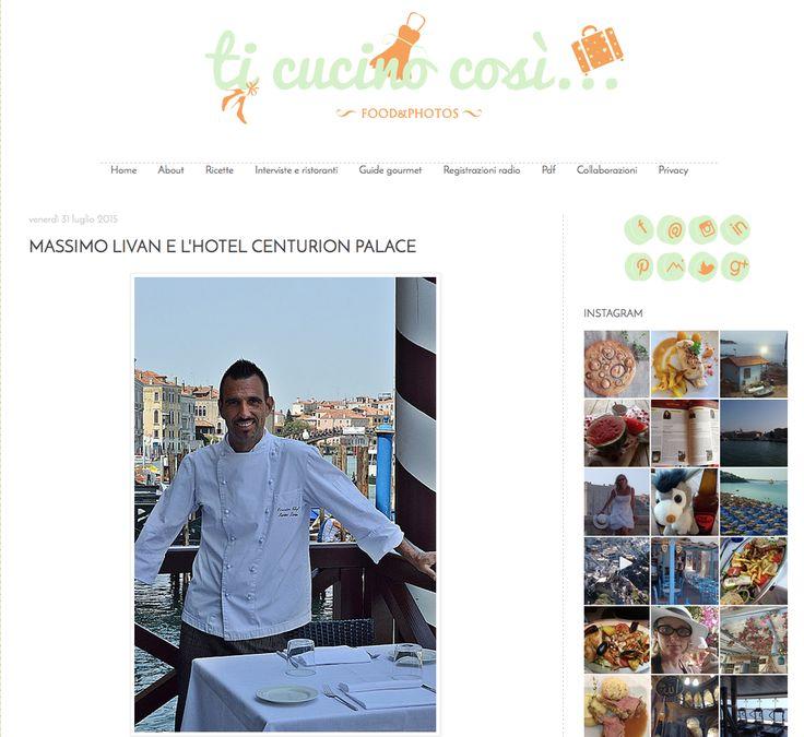 """Grazie a Lucia di """"Ti cucino così"""" per questo articolo che decsrive la magia di Venezia e la bellezza dell'Hotel Centurion Palace.  #HotelCenturionPalace #Hotel #LuxuryHotel #LuxuryTravel Veenzia #Venice #MicaelaScapinComunicazione #AssensiGiorgia #MediaPR #PR #Ufficiostampa"""