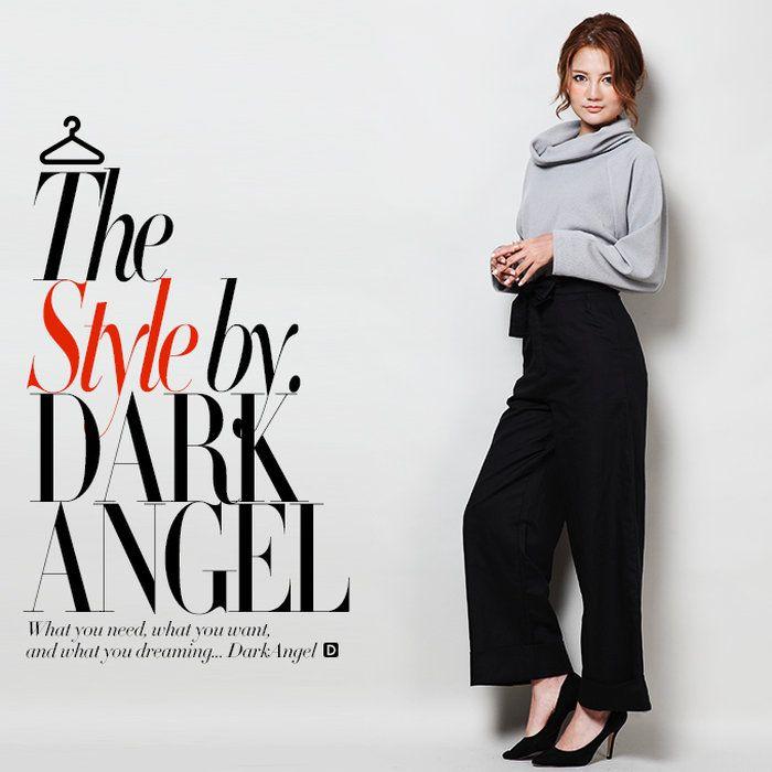 【楽天市場】レディースタートルネックトップス 大き目のタートルネックで小顔効果も♪ 長袖 ウエスト丈 ベーシックカラー 【春 新作】【2016年3月新作】DarkAngel/ダークエンジェル:Dark Angel