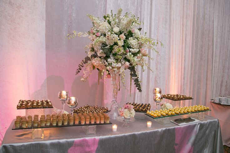 Elegant wedding dessert table (Jeff Kolodny Photography)