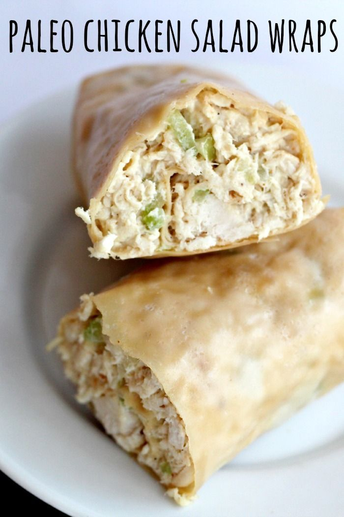 "Dinner Recipes Healthy Easy Paleo Chicken Salad Wraps ""Paleo Wraps will change your world! These are such a perfect lunch and are great to eat cold."" Comments: where do I find the Paleo wraps Ya where do you find paleo wraps?? key ingredient: paleo wrap! they sell Paleo Wraps at Vitacost dot com Delish! ""Chicken Salad: 1 whole roasted chicken or 2 pounds of chicken ½ cup finely chopped celery Juice from 1 lemon (about 2-3 Tablespoons) ⅓ - ½ cup Paleo mayonnaise (see recipe below) ¼ teaspoon…"