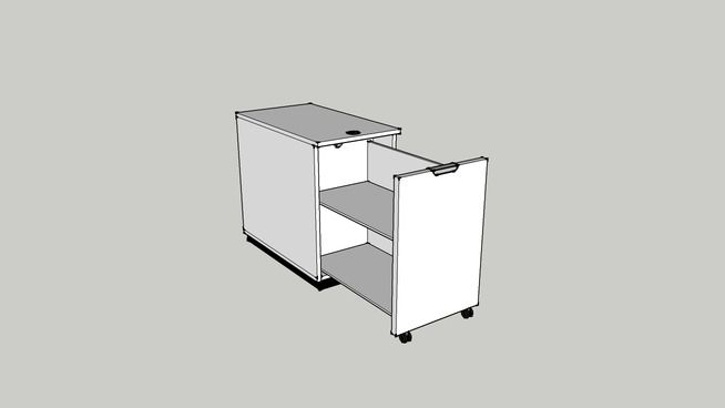 Large Preview Of 3d Model Of Ikea Galant Storage Unity For