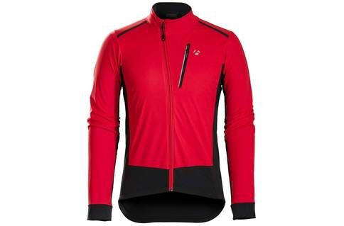 #Bontrager Velocis S1 Softshell Jacket > Red - S #Bundle up without the bulk in the Bontrager Velocis S1 Softshell Jacket. Part of our Winter Ride System, this jacket excels in above freezing conditions for all-day winter training. It keeps out the cold while youre warming up, but breathes as you generate heat on hard-fought winter training miles.