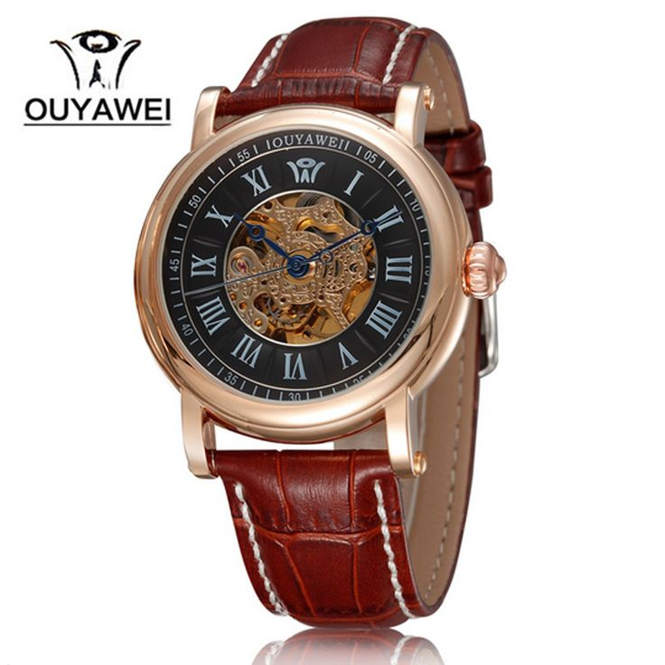 Auto Self Wind analog round wristwatch Leather strap full steel watch Mechanical Watch OUYAWEI Brand Business watches for male-in Mechanical Watches from Watches on Aliexpress.com | Alibaba Group