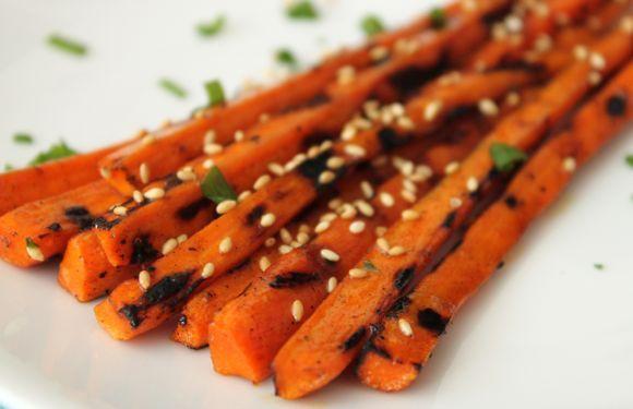 Sesame Ginger Grilled Carrots Recipe