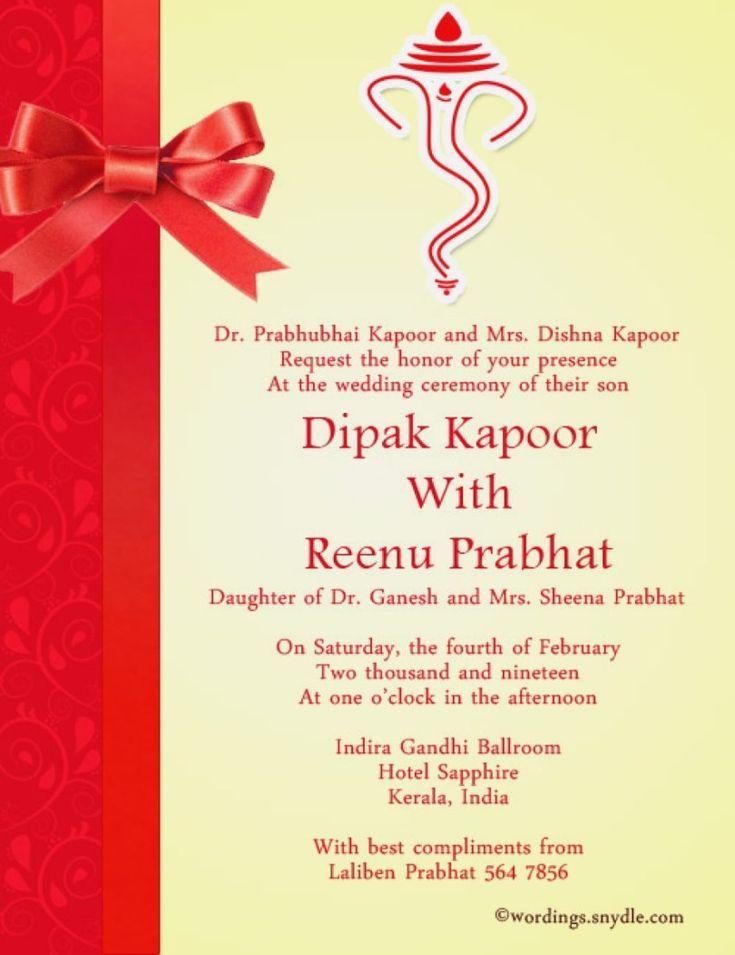 29 Great Image Of Indian Wedding Invitation Wording