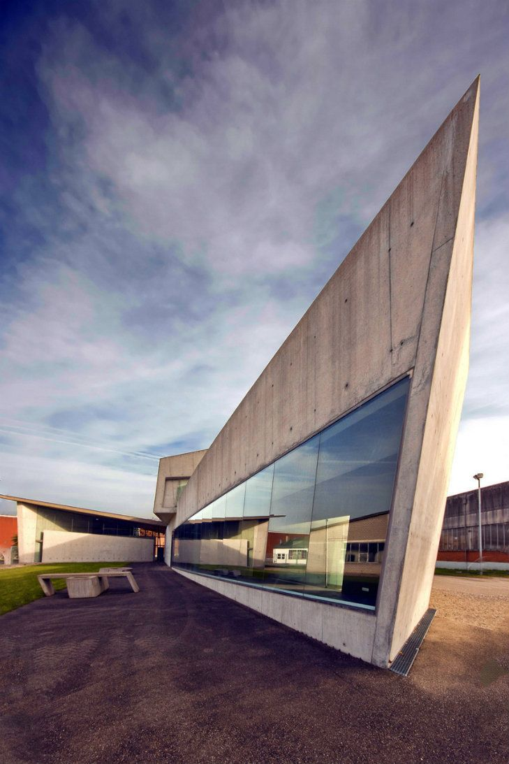 Vitra Fire Station, Germany, 1994 by Dame Zaha Mohammad Hadid   Zaha Hadid Buildings: let's celebrate the architect's legacy - see more at http://delightfull.eu/blog/2016/04/01/zaha-hadid-buildings-lets-celebrate-architects-legacy/