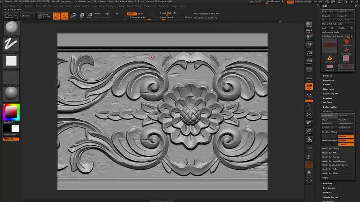 Hey, in this video, I'm showing how to achieve a wood carving texture panel in…