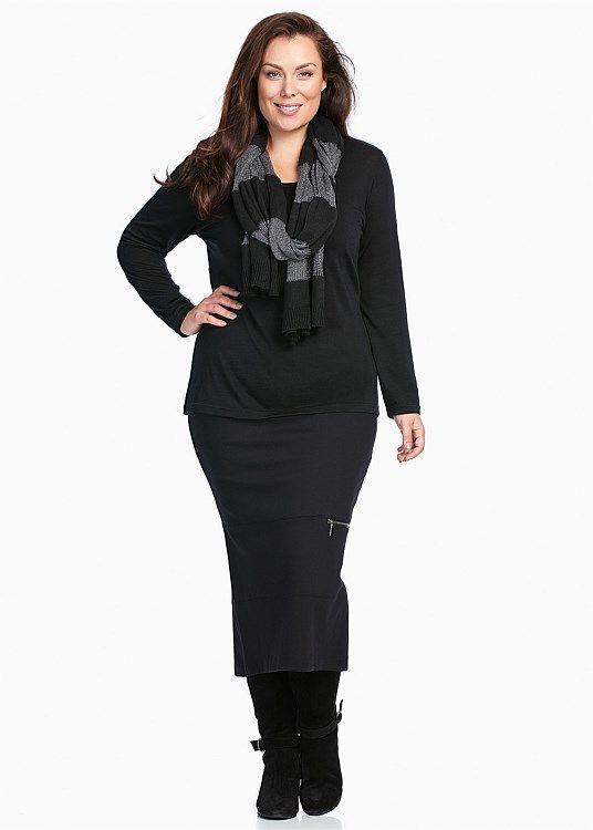SALE - Plus Size Dresses Online | Taking Shape - RETREAT LONG SLEEVE TOP