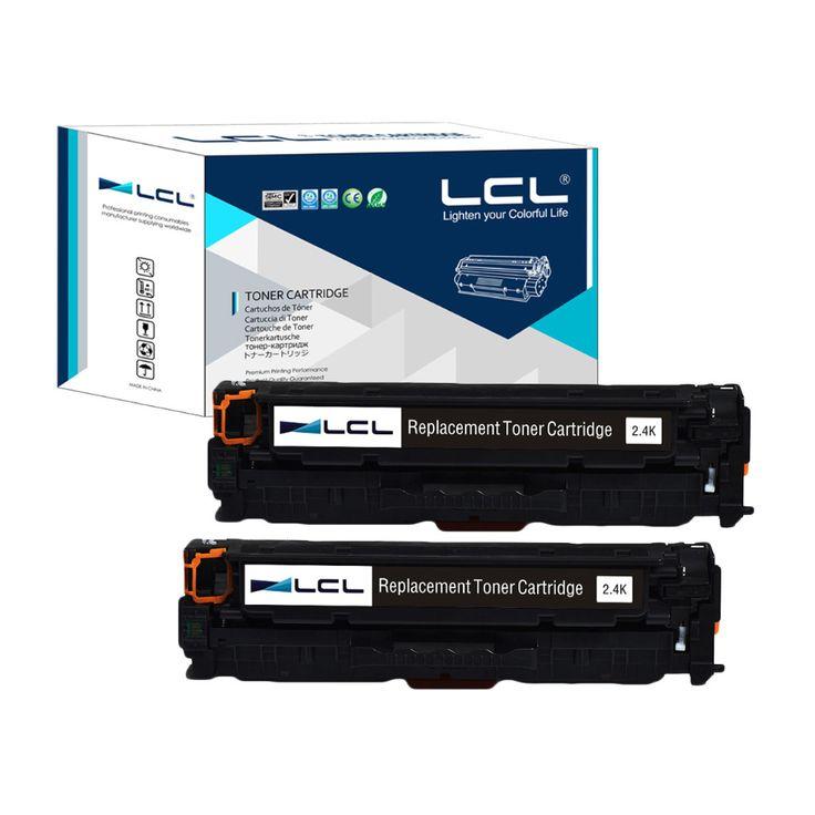 LCL 312A 312 A CF380A 380A 380 CF 380 A (2-Pack)Compatible Laser Toner Cartridge for HP Color LaserJet Pro M476dn MFP/M476dw MFP