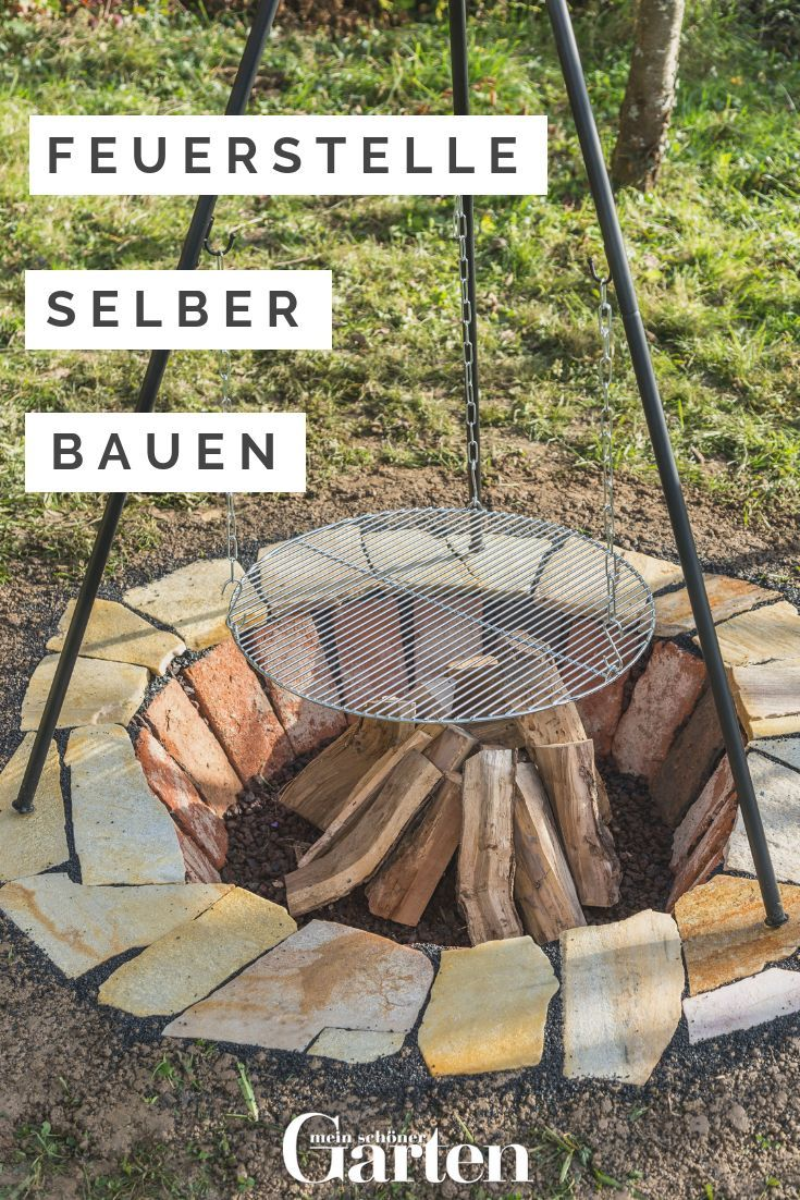 Build a fire pit yourself: That's how it works