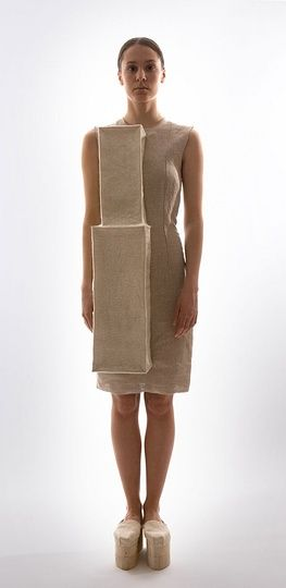 Wearable Structure - fashion architecture; 3D dress form; sculptural fashion // YUI TAI