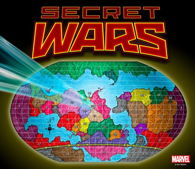 This brings us to Secret Wars. By the end of the first issue, the Marvel Universe as we know it will be replaced by Battleworld, which appears to be a conglomerate world merging all the remaining Earths.