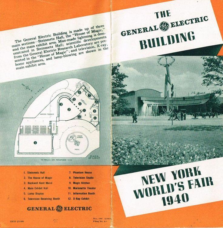 Vintage Brochure General Electric 1940 New York World's Fair Lights Refrigerator