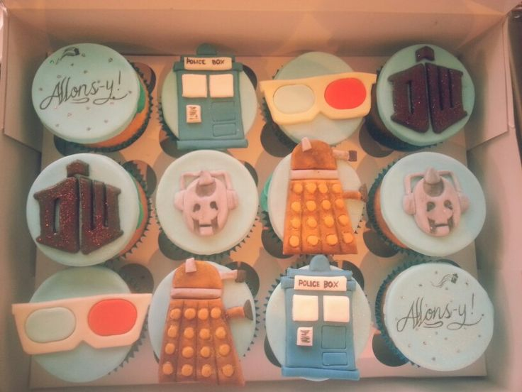 Doctor who gluten free cupcakes :) tenth doctor inspired
