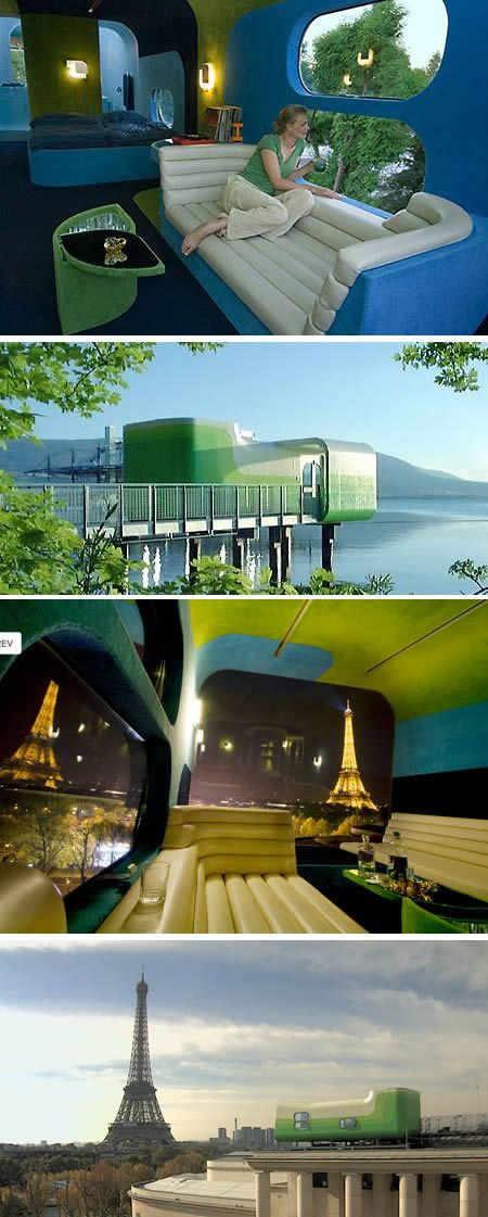 Everland (Paris): a single room roof top mobile luxury hotel
