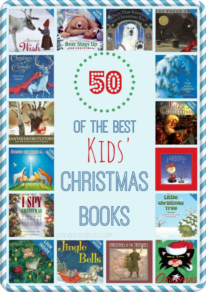 50 of the Best Kids' Christmas Books.  A round-up of our favorites plus a bunch more with great reviews! Get the entire list here: http://pandorasdeals.com/50-best-kids-christmas-books/
