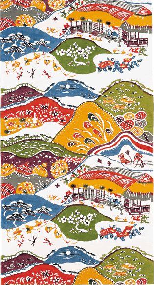 津村小庵文帯地 1967年