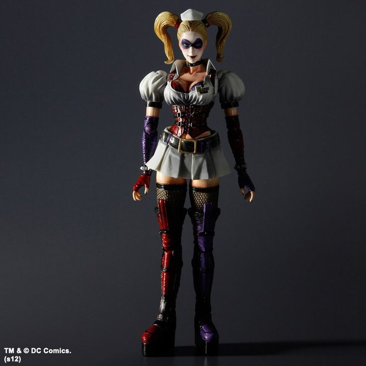 Batman Arkham Asylum Play Arts Kai Action Figure Harley Quinn 23 cm