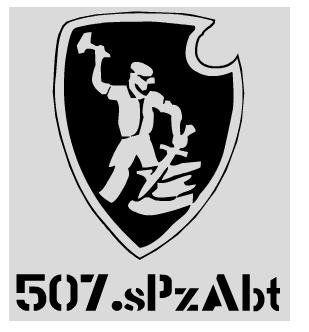 Aufkleber 507. sPzAbt / mehr Infos auf: www.Guntia-Militaria-Shop.de
