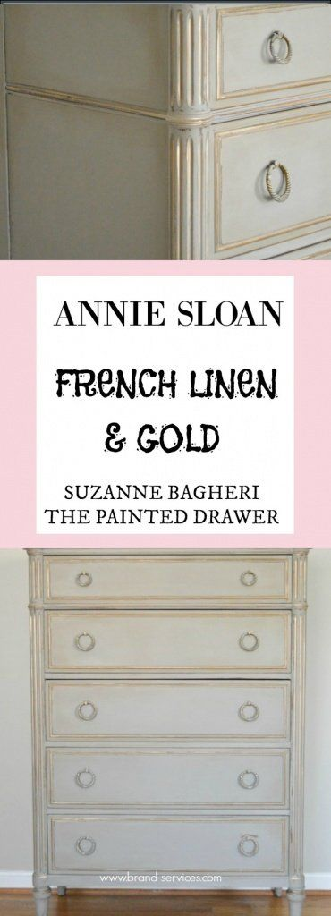 ANNIE SLOAN FRENCH LINEN AND GOLD(Diy Vanity Gold)