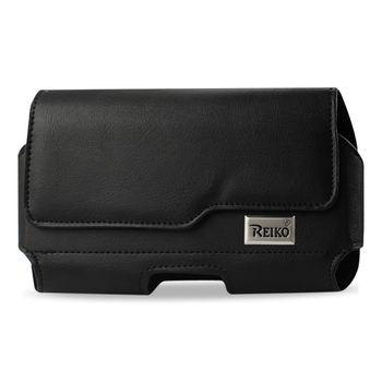 Reiko Horizontal Z Lid Leather Pouch Samsung Galaxy Mega6.3Inch Plus Black