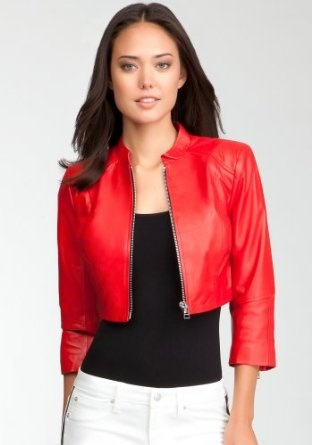 bebe Cropped Zipper Leather Jacket #leather #jacket #leatherjacket ...