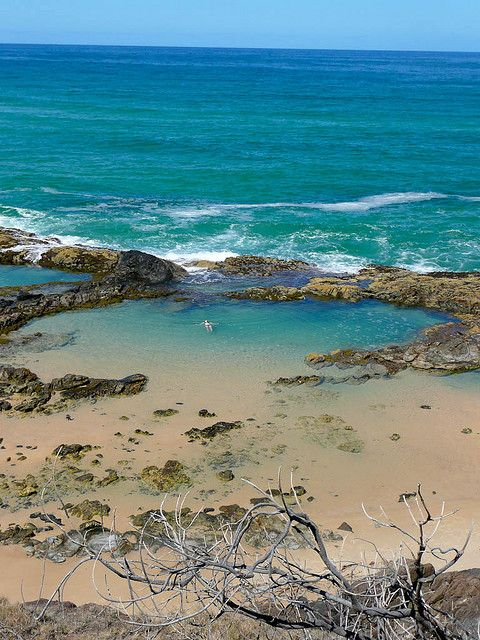 ✯ Champagne pools on Fraser Island, Queensland, Australia