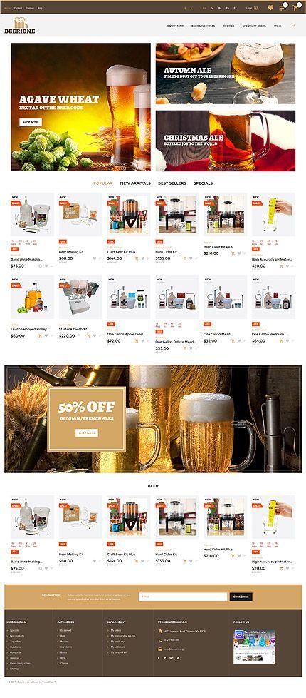All Kind Of Beer Online Store #Prestashop #template. #themes #business #responsive #webshop #Prestashopthemes
