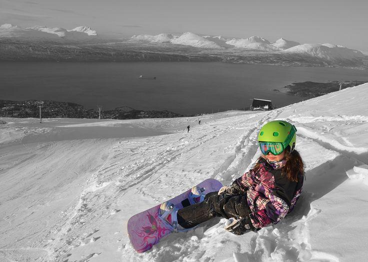 Snowboarding in Narvik
