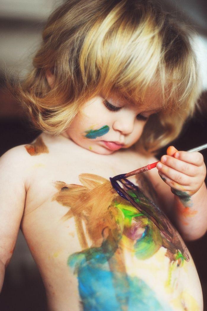 The little artist...