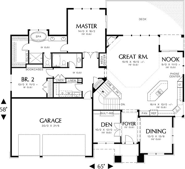 Modern prairie style home plan Prairie house plans